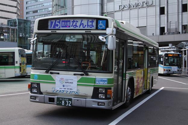 大阪市営バス 36-0832号車 75系統 なんば 行