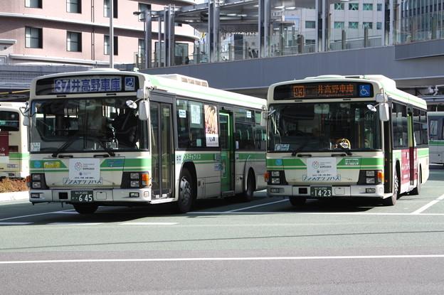 大阪市営バス 645号車・1423号車