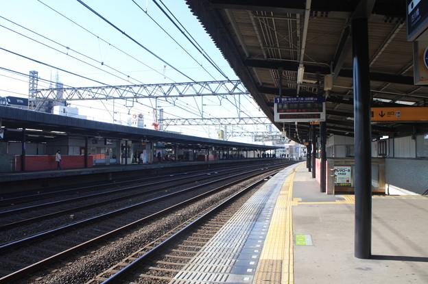 京阪本線 大和田駅 ホーム
