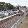 偕楽園駅を通過する5094レ安中貨物 (2)