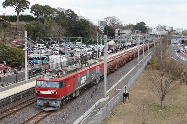 偕楽園駅を通過する5094レ安中貨物 (8)