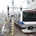 写真: 品川駅10番線を発車するE531系K411編成 常磐線直通普通土浦行