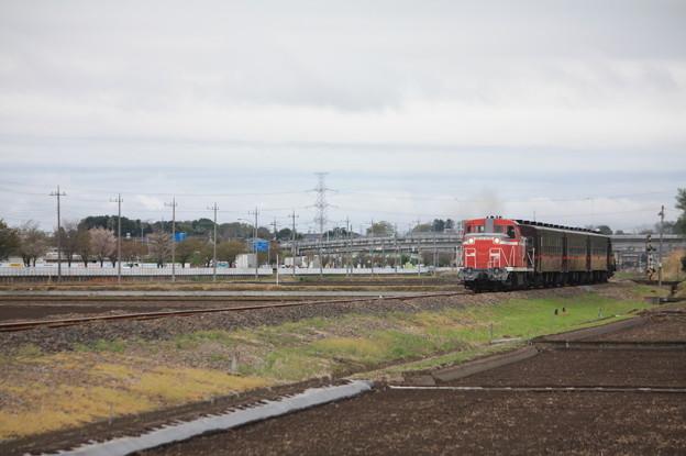 回6100レ DE10 1535+50系客車+C12 66