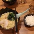 横浜家系ラーメン 醤油とんこつラーメン海苔トッピング&ライス