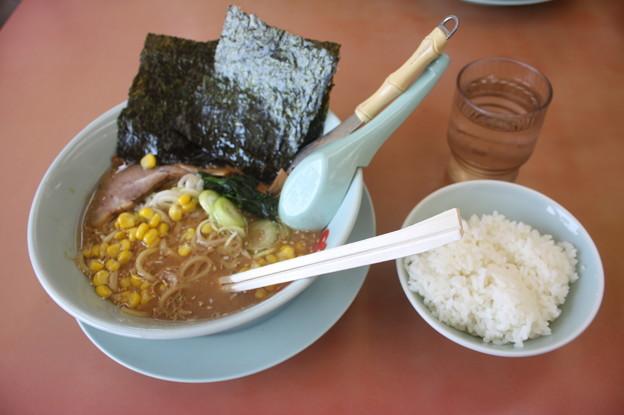 らーめん山岡家 味噌ラーメンメンマ・コーントッピング&ライス