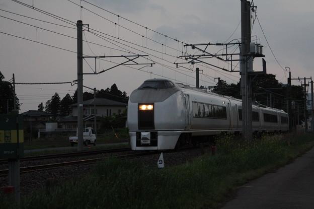 651系K201編成 9723M 臨時快速足利大藤まつり号 いわき 行 (4)