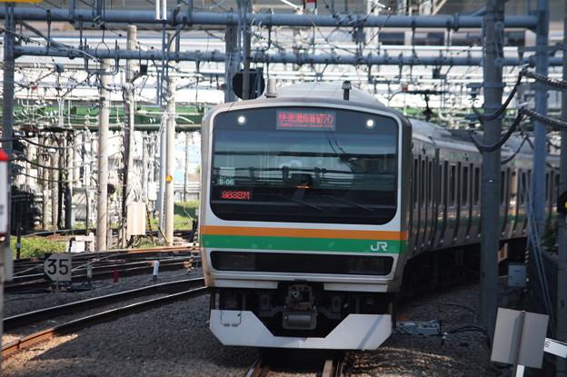 大崎駅8番線に到着する湘南新宿ラインE231系1000番台S‐06編成 9838M 快速 大崎 行