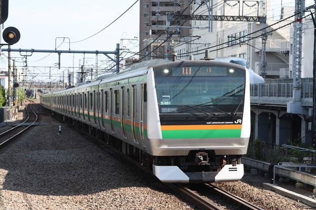 湘南新宿ライン E233系3000番台E-55編成 9840M 快速 大崎 行