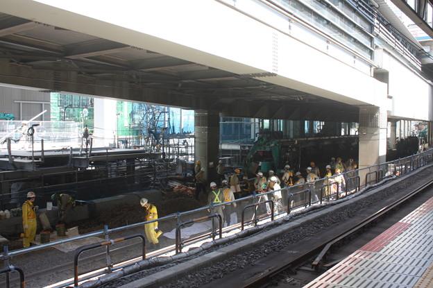 埼京線・湘南新宿ライン渋谷駅線路切替工事の様子 20180603_06