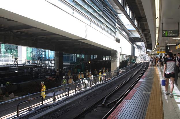 埼京線・湘南新宿ライン渋谷駅線路切替工事の様子 20180603_07