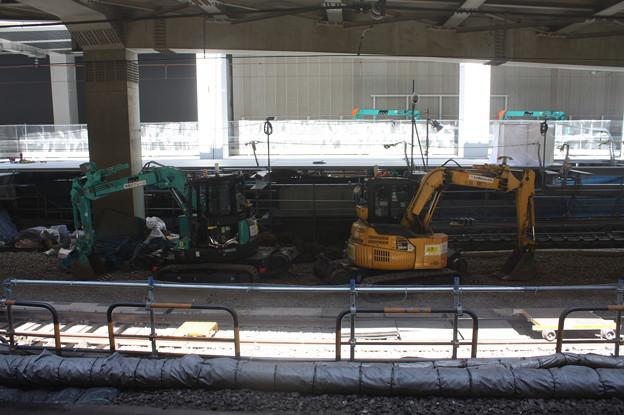 埼京線・湘南新宿ライン渋谷駅線路切替工事の様子 20180603_08
