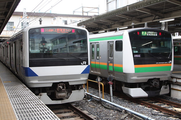 上野東京ライン E531系K452編成・E233系3000番台E-57編成