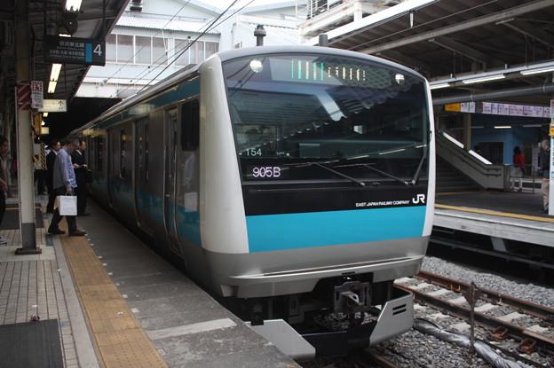 品川駅4番線に到着する京浜東北線E233系1000番台サイ154編成 大船 行