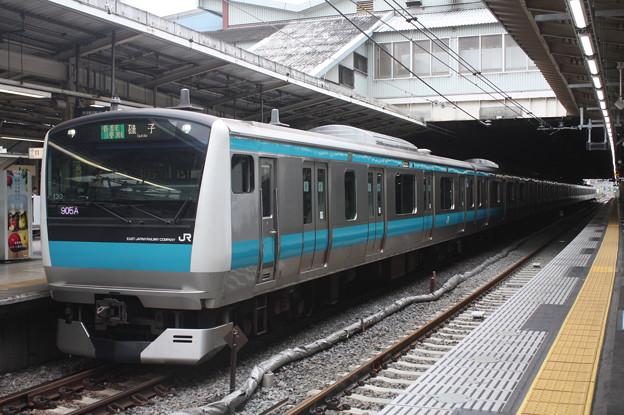 品川駅4番線に停車する京浜東北線E233系1000番台サイ130編成 磯子 行