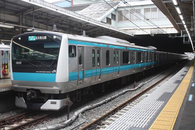 品川駅4番線に停車する京浜東北線E233系1000番台サイ127編成 大船 行