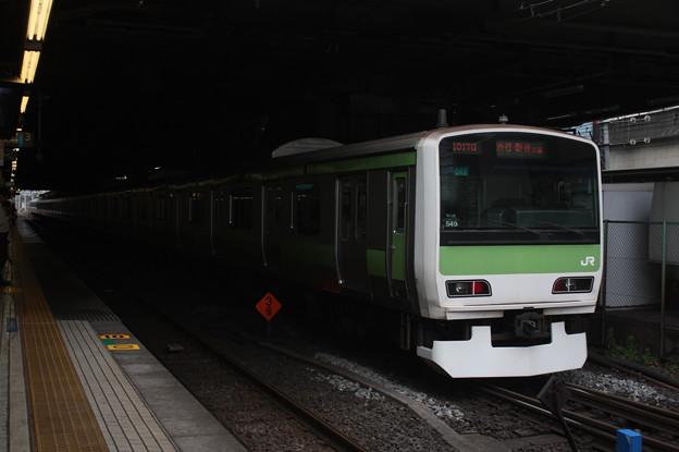 品川駅2番線に到着する山手線E231系500番台トウ549編成