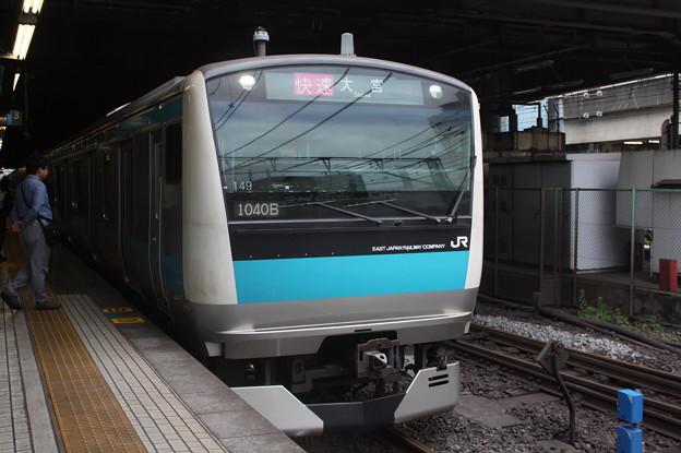 品川駅4番線に到着する京浜東北線E233系1000番台サイ149編成 快速 大宮 行
