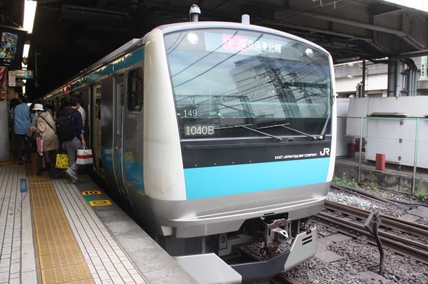 品川駅4番線に停車する京浜東北線E233系1000番台サイ149編成 快速 大宮 行