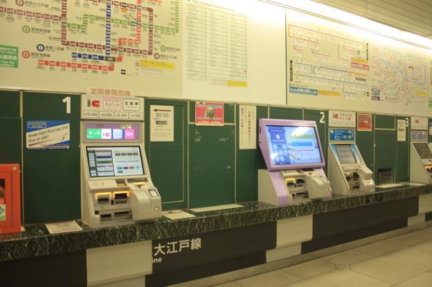 都営地下鉄大江戸線 上野御徒町駅 券売機