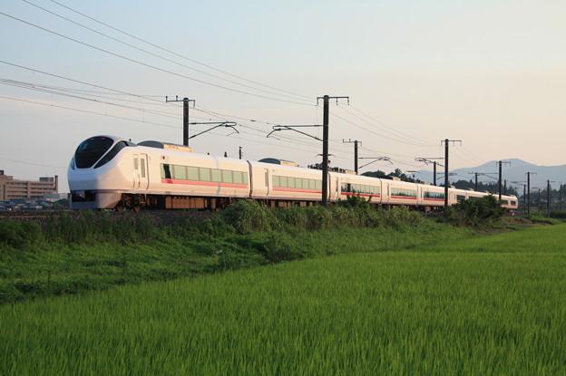 夏日の田園風景を行くE657系 (8)