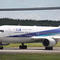 成田空港RWY16L滑走路へタキシングするANA B767-300ER JA618A (1)