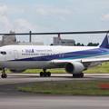 成田空港RWY16L滑走路へタキシングするANA B767-300ER JA618A (2)