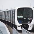 Photos: 東京臨海新交通ゆりかもめ7300系33F 新橋 行 国際展示場正門駅到着