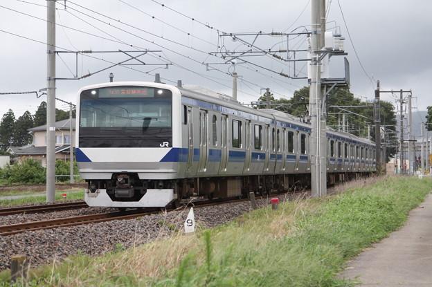 水戸線 E531系3000番台K556編成 741M 普通 勝田 行