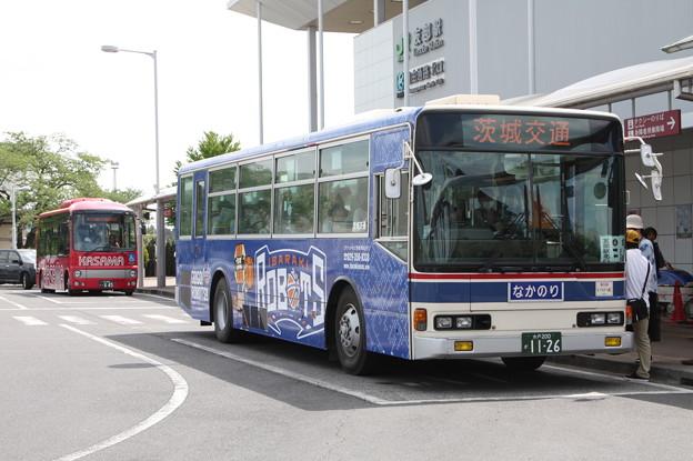 茨城交通 水戸200か1126 「茨城ロボッツ」ラッピング 笠間ひまつりシャトルバス (2)