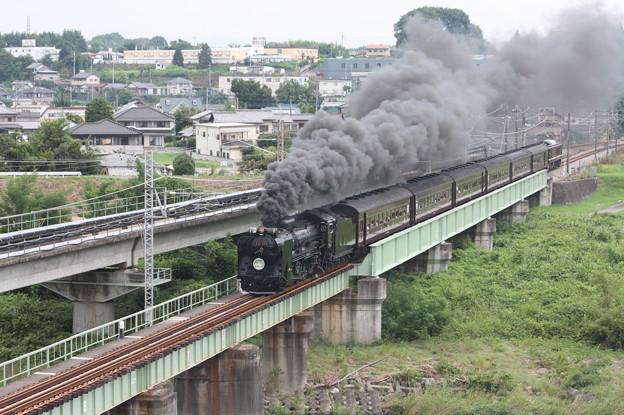 SLレトロ碓氷 D51 498+旧客6B+EF64 1052 安中鉄橋 (9)