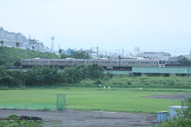 211系3000番台 普通 横川 行 安中鉄橋付近 (2)
