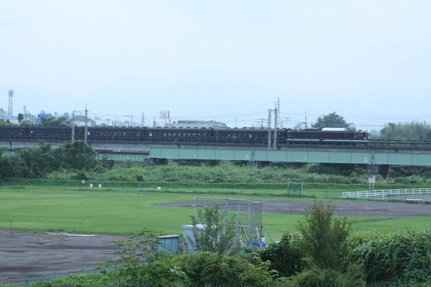 ELレトロ碓氷 EF64 1052+旧客6B+D51 498 安中鉄橋付近 (6)