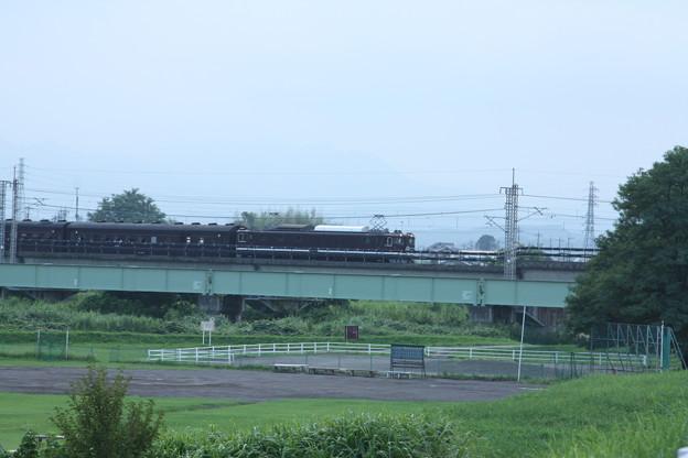 ELレトロ碓氷 EF64 1052+旧客6B+D51 498 安中鉄橋付近 (7)