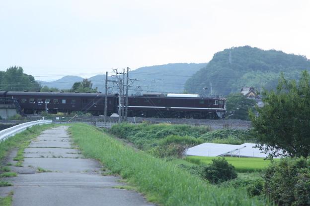 ELレトロ碓氷 EF64 1052+旧客6B+D51 498 安中鉄橋付近 (8)