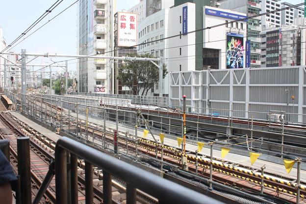 線路切替工事後の埼京線・湘南新宿ライン渋谷駅