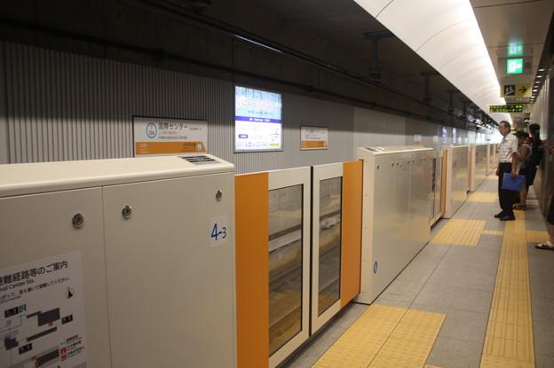 仙台市営地下鉄東西線 国際センター駅1番線ホーム