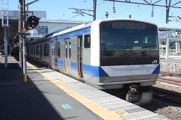常磐線 E531系K414編成 346M 普通 上野 行