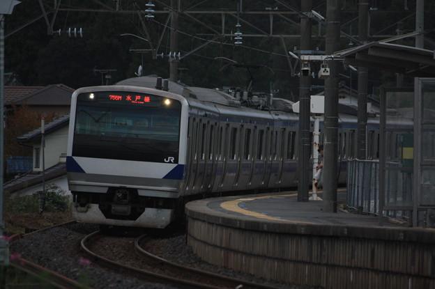 水戸線 E531系K455編成 755M 普通 友部 行