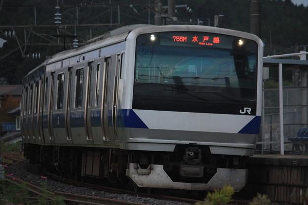 水戸線 E531系K455編成 755M 普通 友部 行 (2)