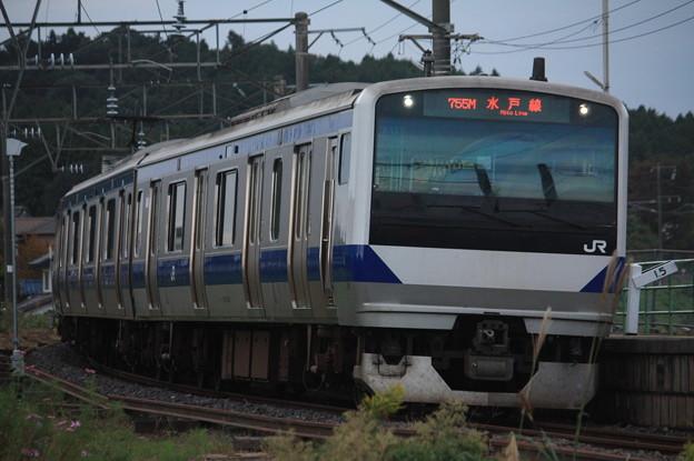 水戸線 E531系K455編成 755M 普通 友部 行 (3)