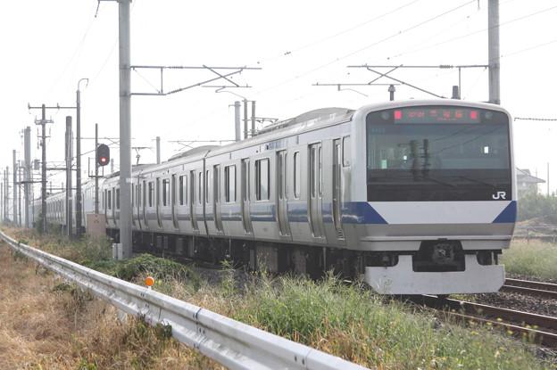 常磐線 E531系K409編成 323M 普通 高萩 行