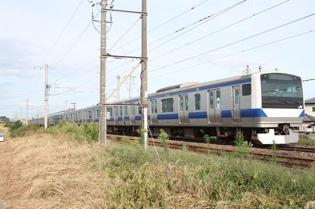 常磐線 E531系K407編成 432M 普通 上野 行