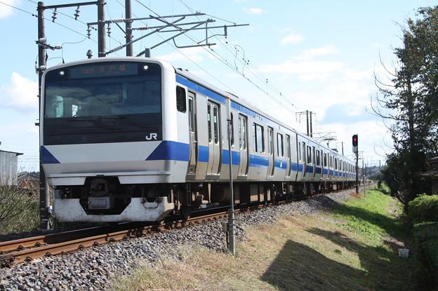 水戸線 E531系K472編成 746M 普通 小山 行 (1)