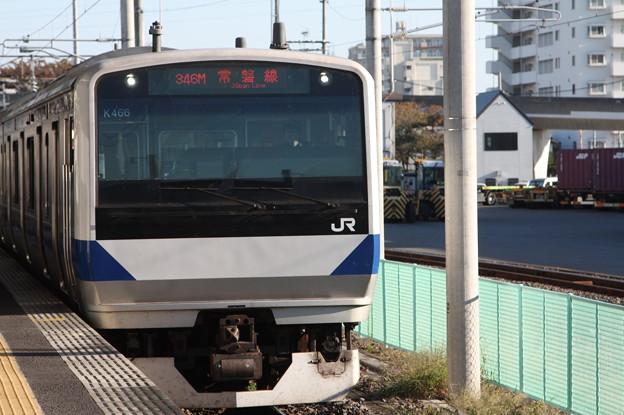 常磐線 E531系K466編成 346M 普通 上野 行