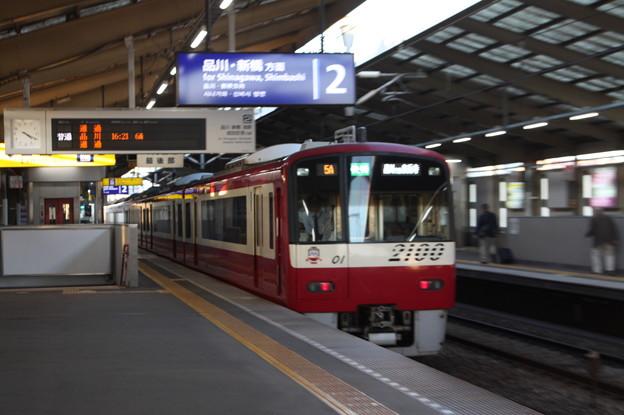 京急本線 2100形2101F 快速特急 泉岳寺 行