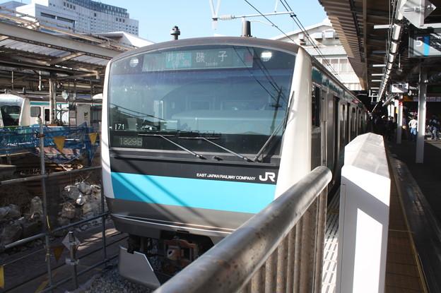 京浜東北線 E233系1000番台サイ171編成 品川駅5番線停車中