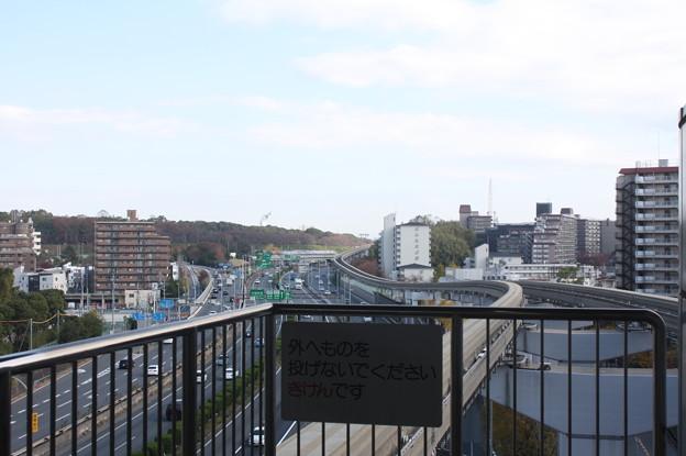 大阪モノレール山田駅から見る風景