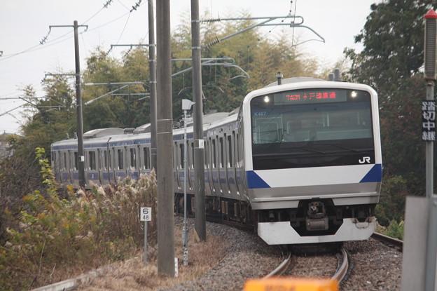 水戸線 E531系K467編成 742M 普通 小山 行 (1)