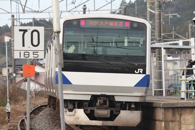 水戸線 E531系K467編成 742M 普通 小山 行 後追い (1)