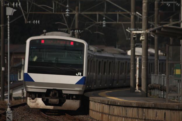 水戸線 E531系K467編成 742M 普通 小山 行 後追い (4)